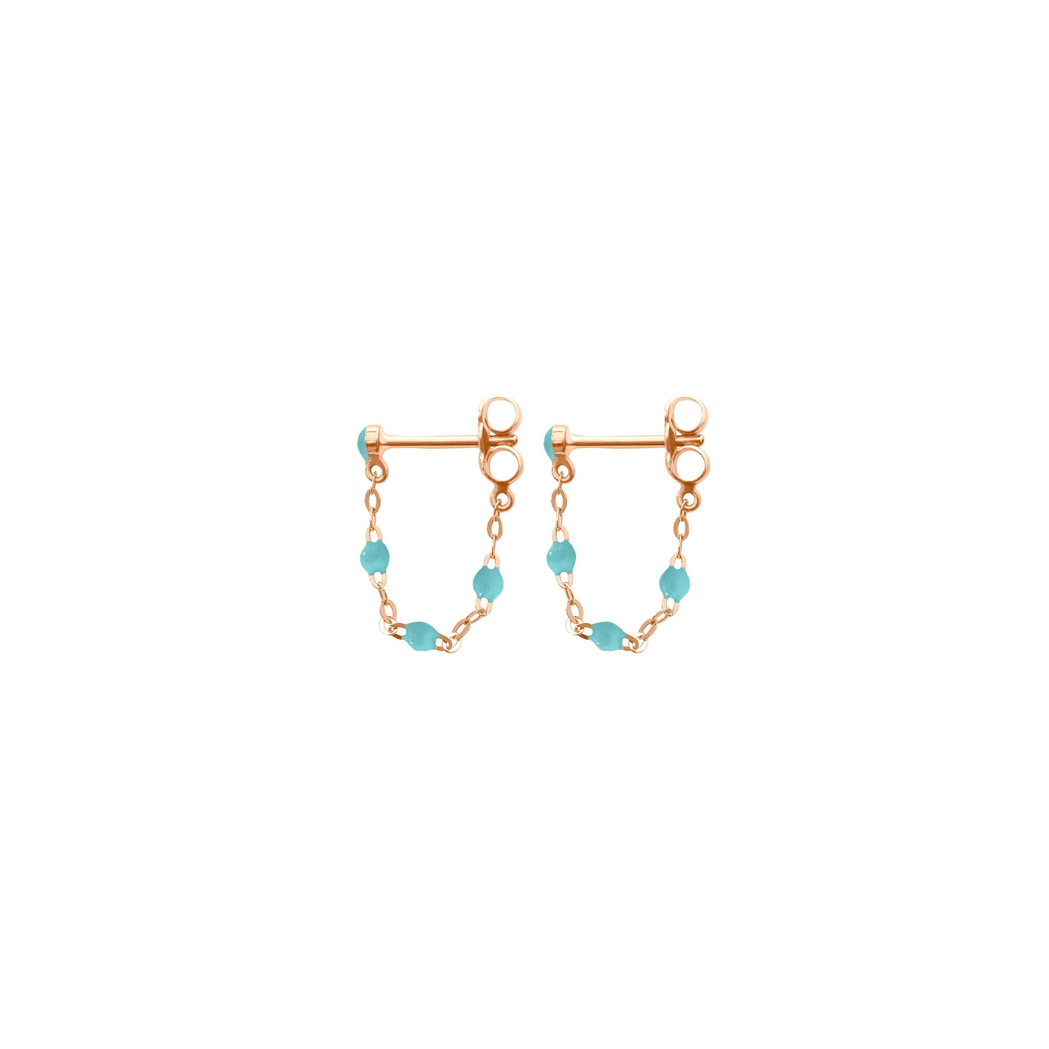 Gigi Clozeau - Classic Gigi Turquoise Green earrings, Rose Gold