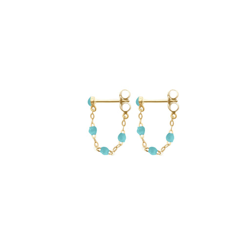 Gigi Clozeau - Classic Gigi Turquoise Green earrings, Yellow Gold