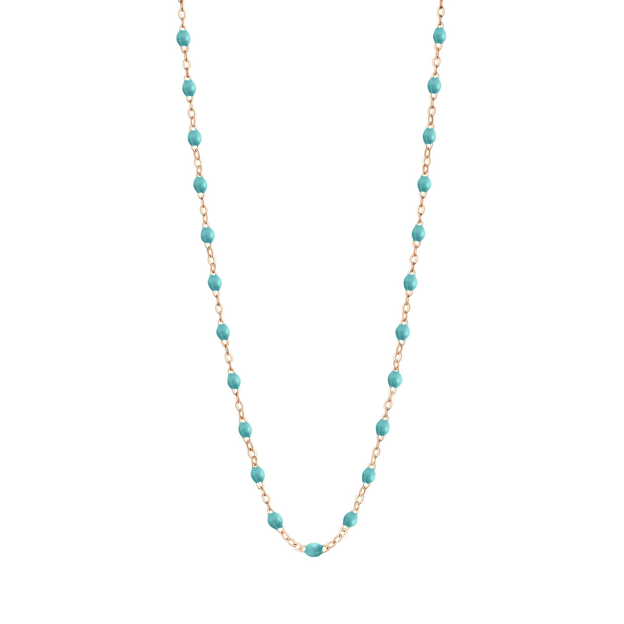 Gigi Clozeau - Classic Gigi Turquoise Green necklace, Rose Gold, 19.7""
