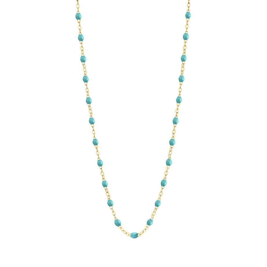 Gigi Clozeau - Classic Gigi Turquoise Green necklace, yellow gold, 16.5