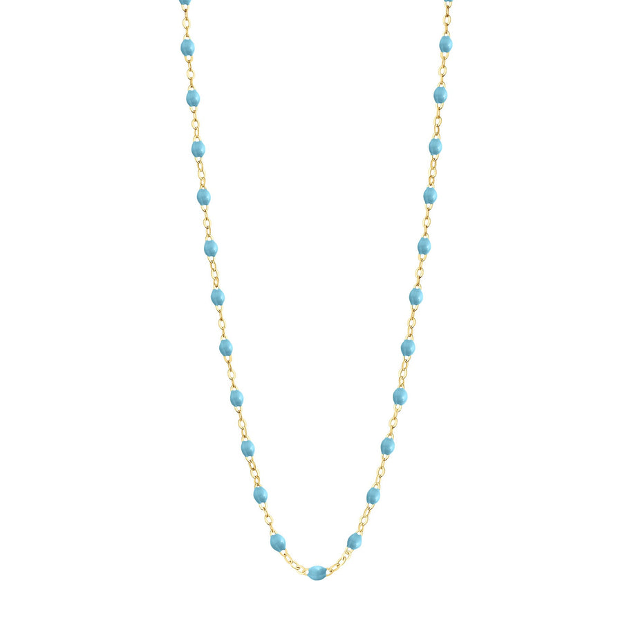 Gigi Clozeau - Classic Gigi Turquoise necklace, yellow gold, 16.5
