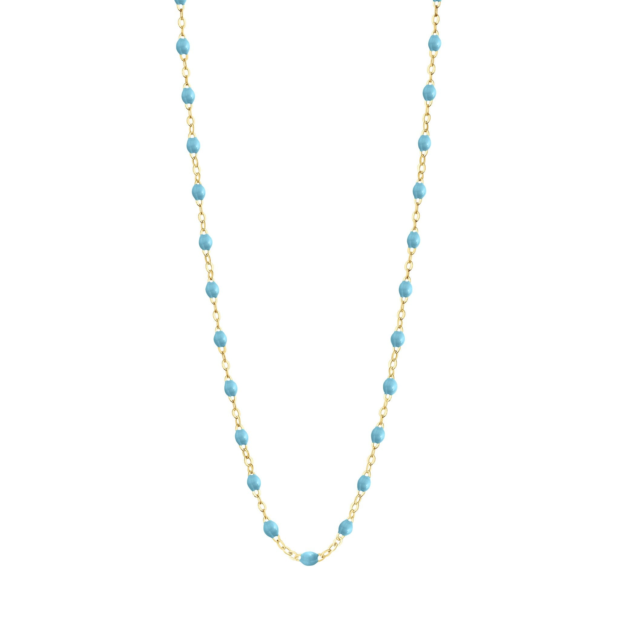 Gigi Clozeau - Classic Gigi Turquoise necklace, Yellow Gold, 17.7""