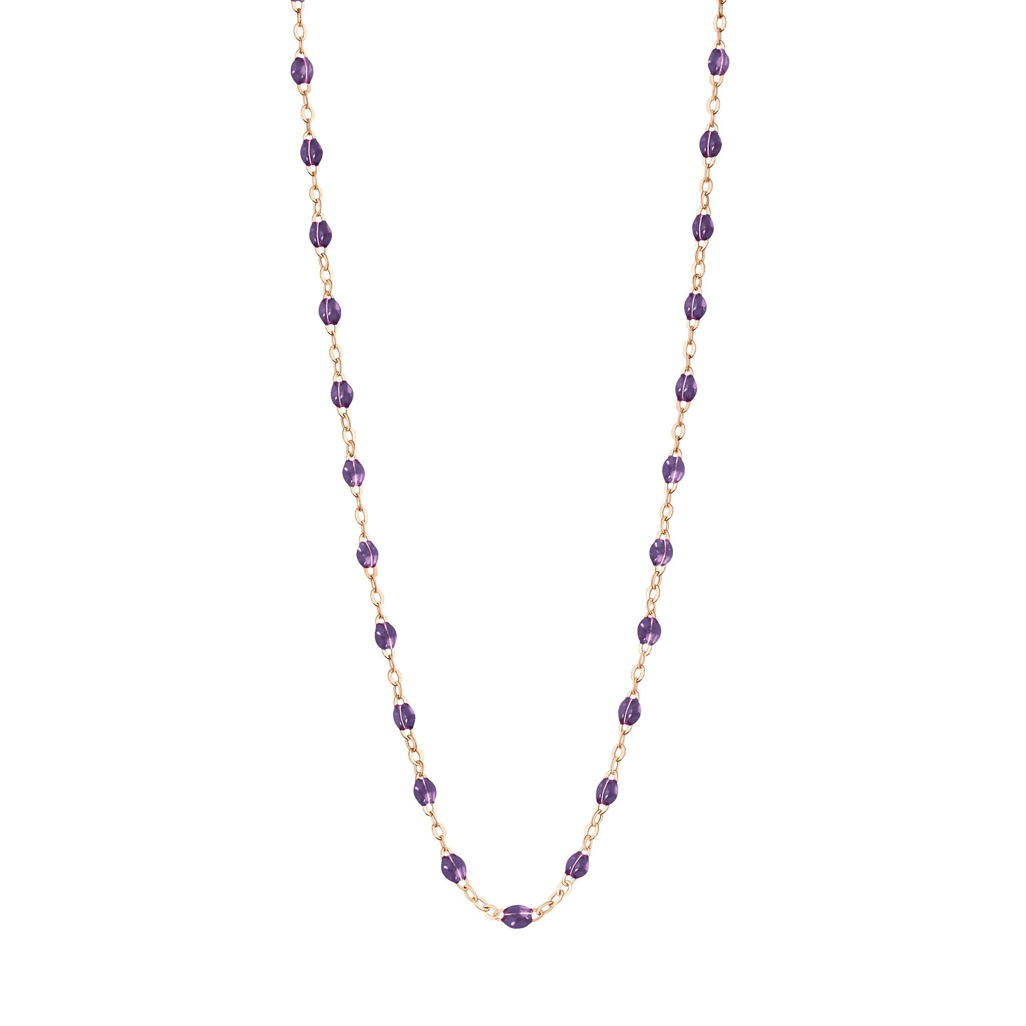 Gigi Clozeau - Classic Gigi Violet necklace, Rose Gold, 17.7