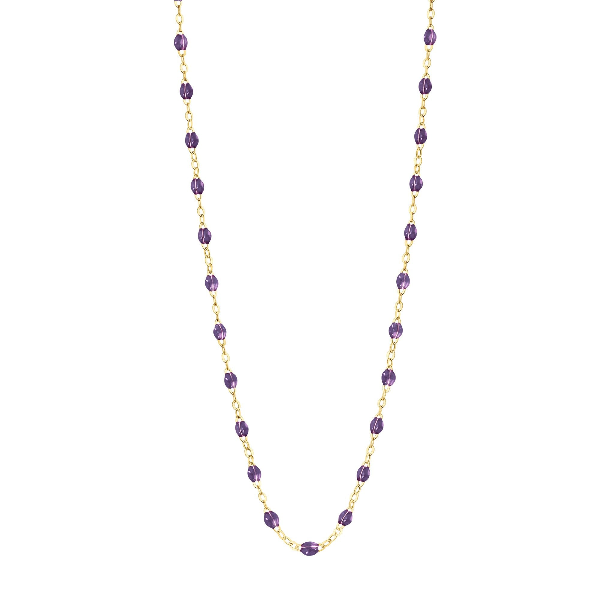 Gigi Clozeau - Classic Gigi Violet necklace, Yellow Gold, 17.7""