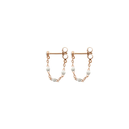 Gigi Clozeau - Classic Gigi White earrings, Rose Gold