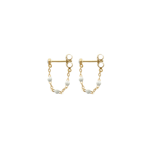 Gigi Clozeau - Classic Gigi White earrings, Yellow Gold