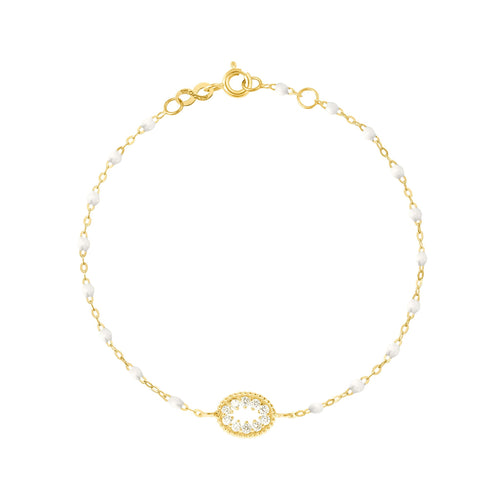 Gigi Clozeau - Classic Gigi White Me Hearty Bracelet, Yellow Gold, 6.7
