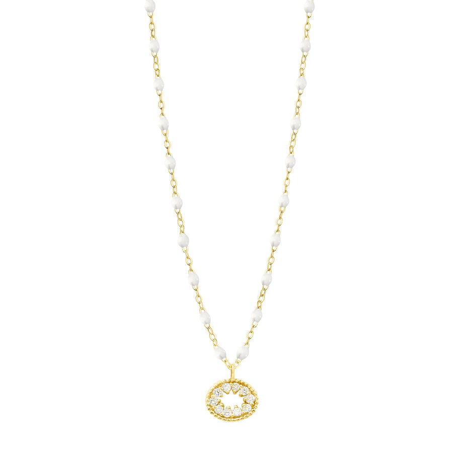 Gigi Clozeau - Classic Gigi White Me Hearty Necklace, Yellow Gold, 16.5