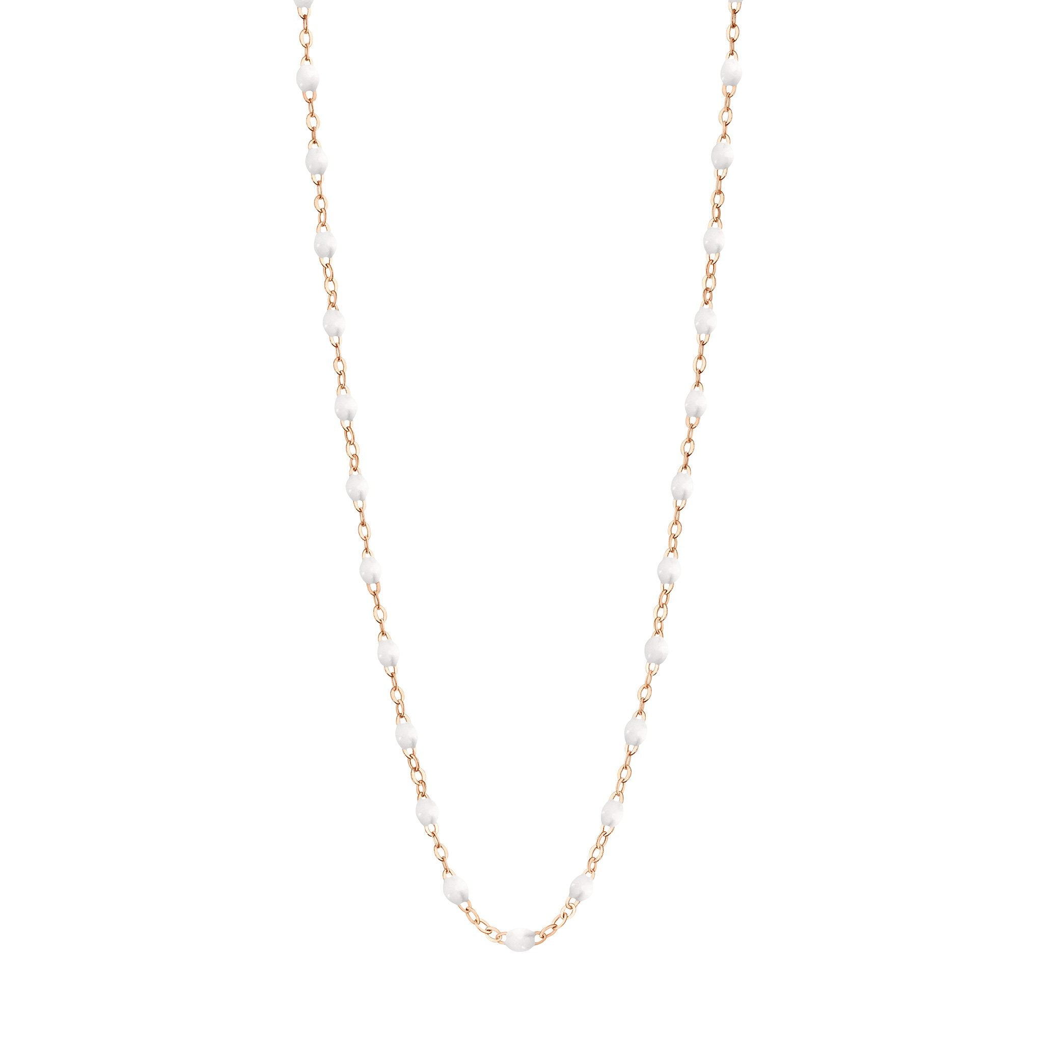 Gigi Clozeau - Classic Gigi White necklace, Rose Gold, 16.5""