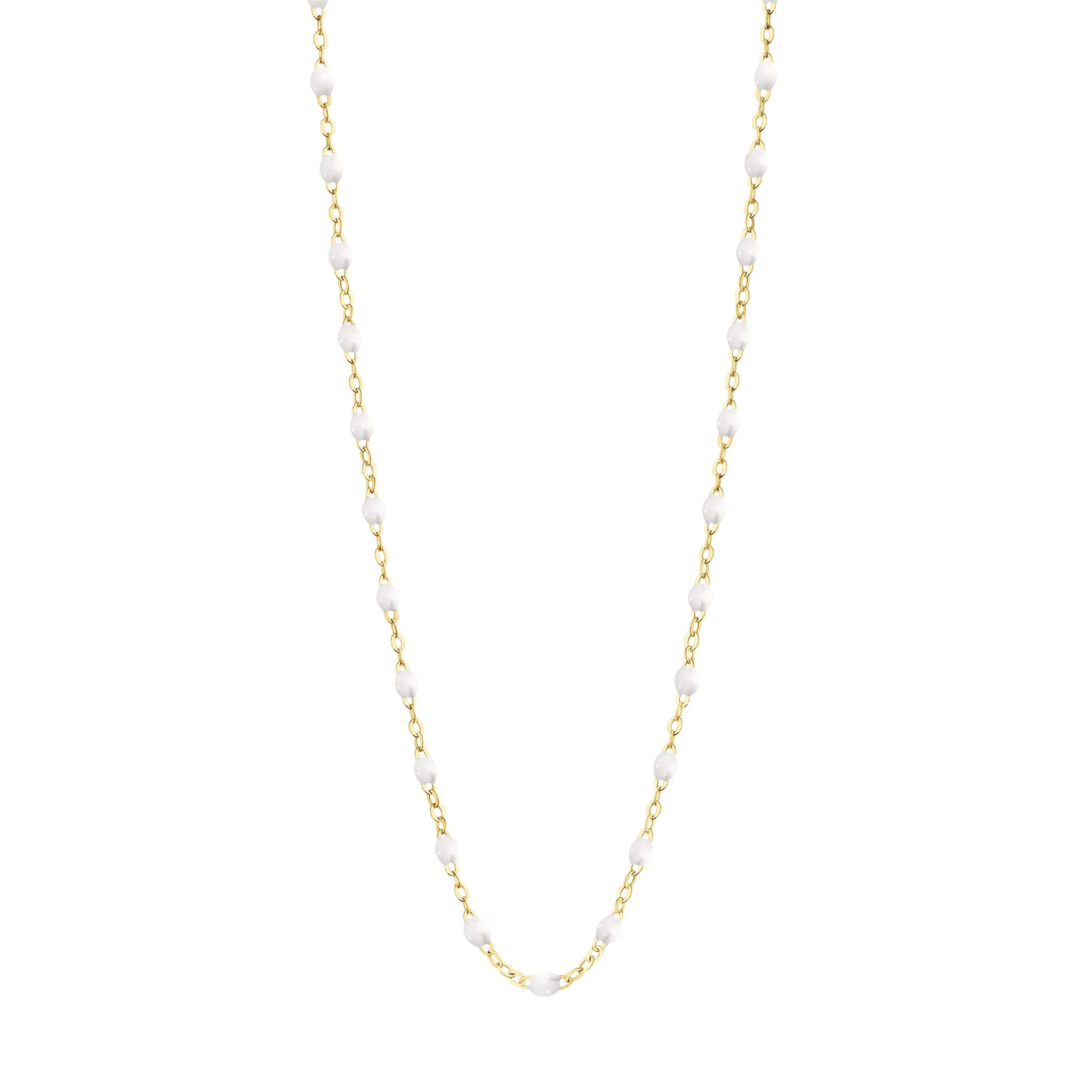 Gigi Clozeau - Classic Gigi White necklace, Yellow Gold, 19.7
