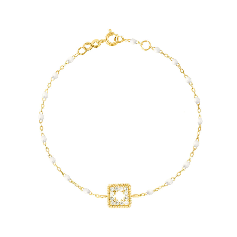 Gigi Clozeau - Classic Gigi White Treasure Bracelet, Yellow Gold, 6.7