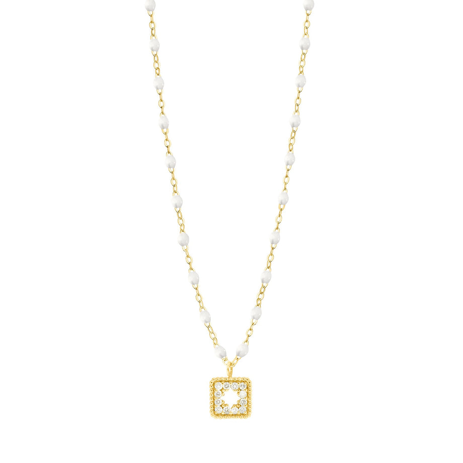 Gigi Clozeau - Classic Gigi White Treasure Necklace Yellow Gold, 16.5