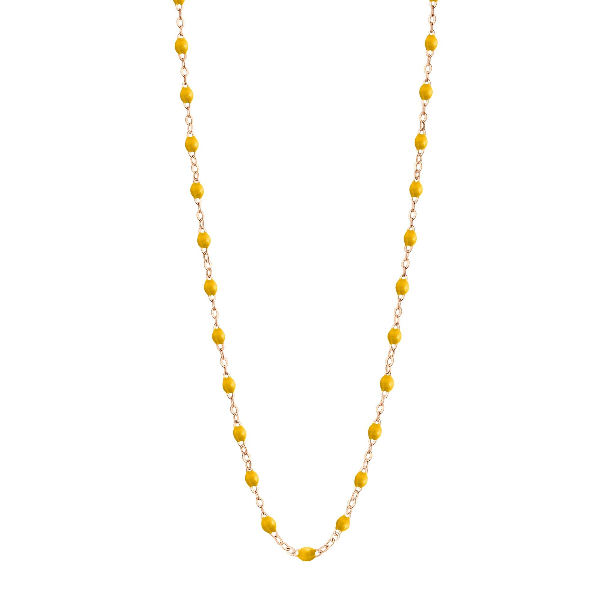Gigi Clozeau - Classic Gigi Yellow necklace, Rose Gold, 17.7""