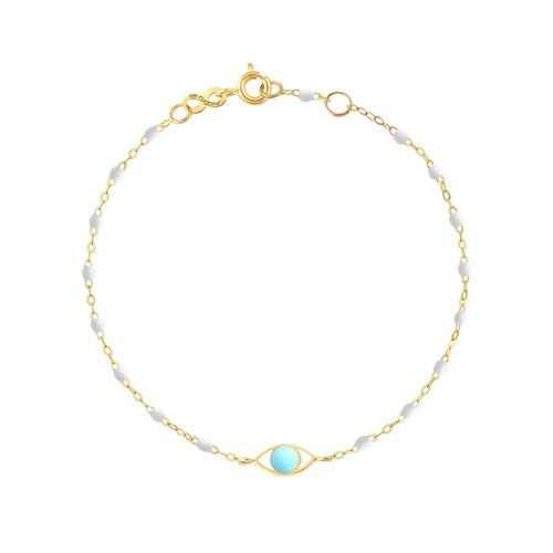 Gigi Clozeau - Eye Classic Gigi White bracelet, Yellow Gold, 6.7