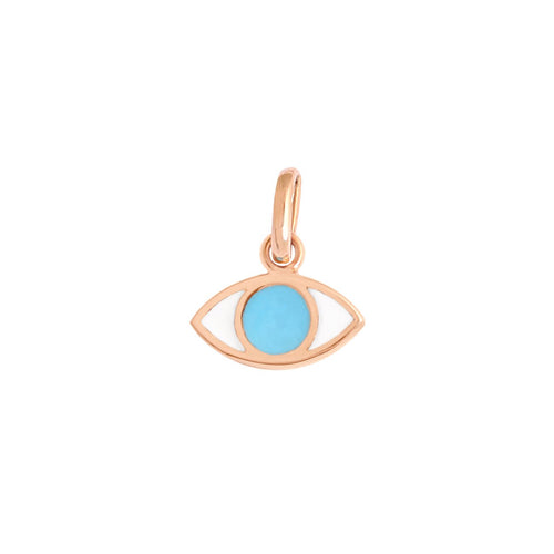 Gigi Clozeau - Eye Turquoise Resin pendant, Rose Gold