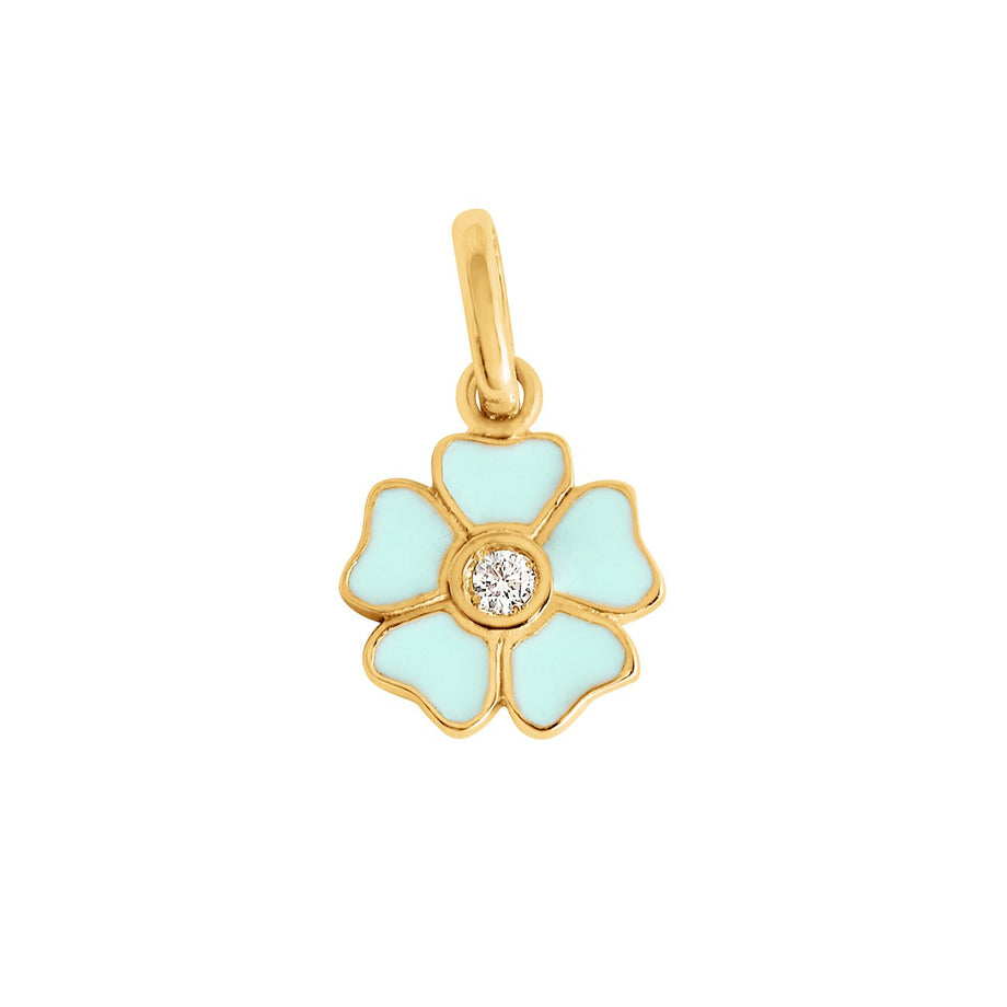 Gigi Clozeau - Flower Jade diamond pendant, Yellow Gold