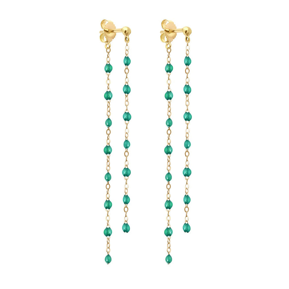 Gigi Clozeau - Classic Gigi dangling Emerald earrings, Yellow Gold