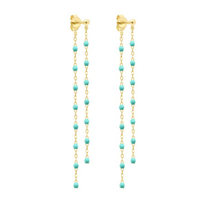 Gigi Clozeau - Classic Gigi dangling Lagoon earrings, Yellow Gold