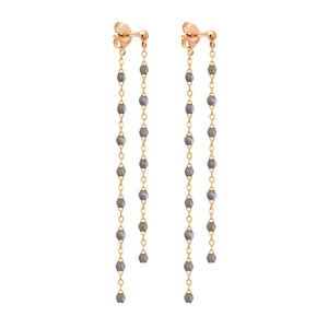 Gigi Clozeau - Classic Gigi dangling Silver earrings, Rose Gold