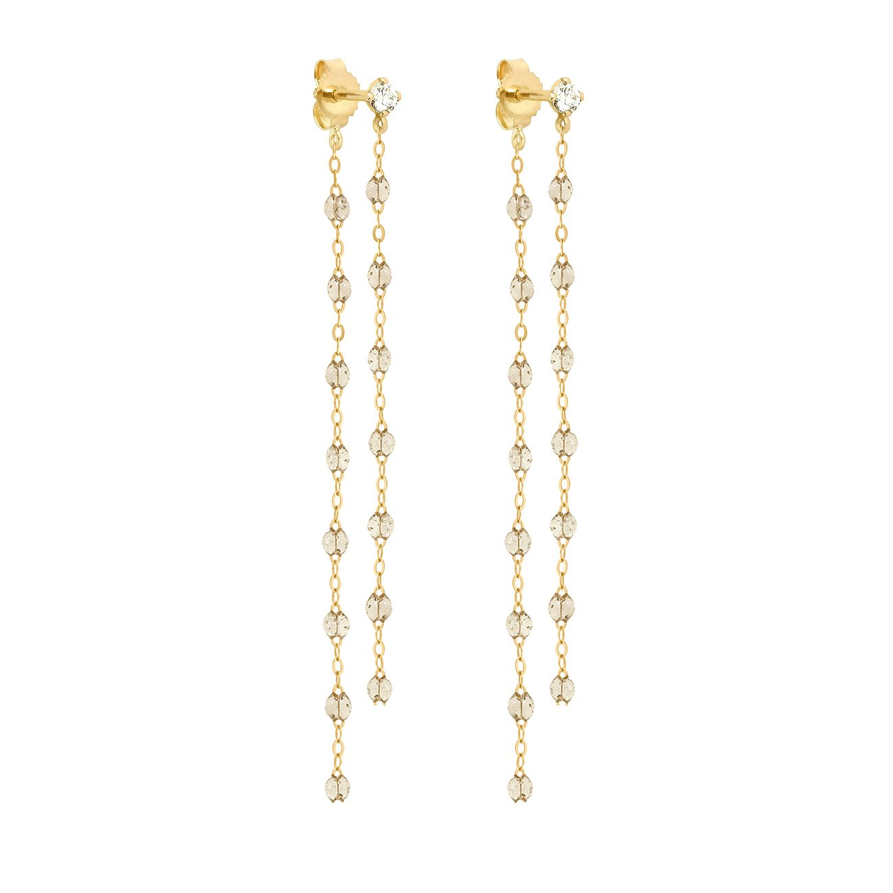 Gigi Clozeau - Classic Gigi dangling Sparkle diamonds earrings, Yellow Gold