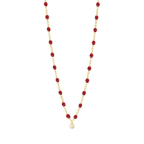 Gigi Clozeau - Gigi Supreme Classic 1 Diamond Necklace, Cherry, Yellow Gold, 16.5