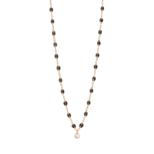 Gigi Clozeau - Gigi Supreme Classic 1 Diamond Necklace, Quartz, Rose Gold, 16.5