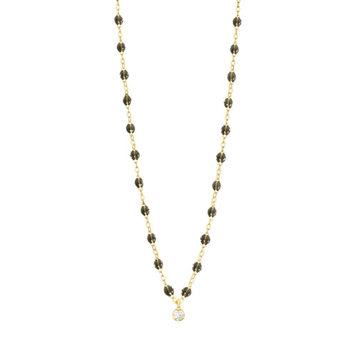 Gigi Clozeau - Gigi Supreme Classic 1 Diamond Necklace, Quartz, Yellow Gold, 16.5