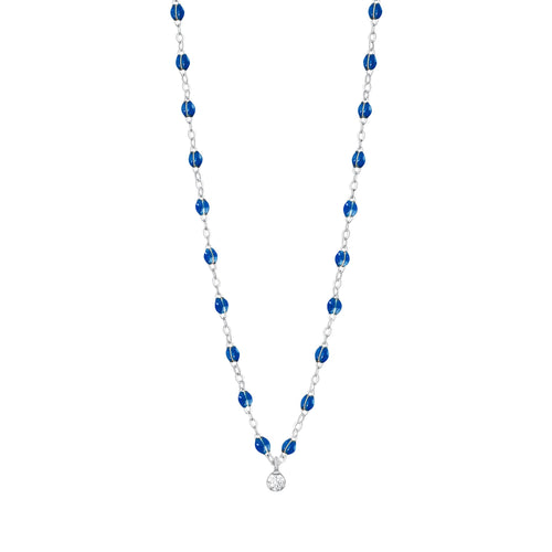 Gigi Clozeau - Gigi Supreme Classic 1 Diamond Necklace, Sapphire, White Gold, 16.5