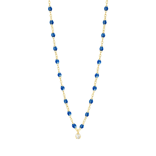 Gigi Clozeau - Gigi Supreme Classic 1 Diamond Necklace, Sapphire, Yellow Gold, 16.5