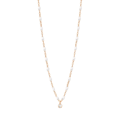 Gigi Clozeau - Gigi Supreme Classic 1 Diamond Necklace, White, Rose Gold, 16.5