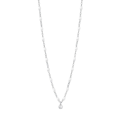 Gigi Clozeau - Gigi Supreme Classic 1 Diamond Necklace, White, White Gold, 16.5