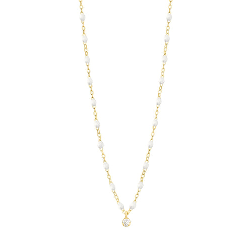 Gigi Clozeau - Gigi Supreme Classic 1 Diamond Necklace, White, Yellow Gold, 16.5