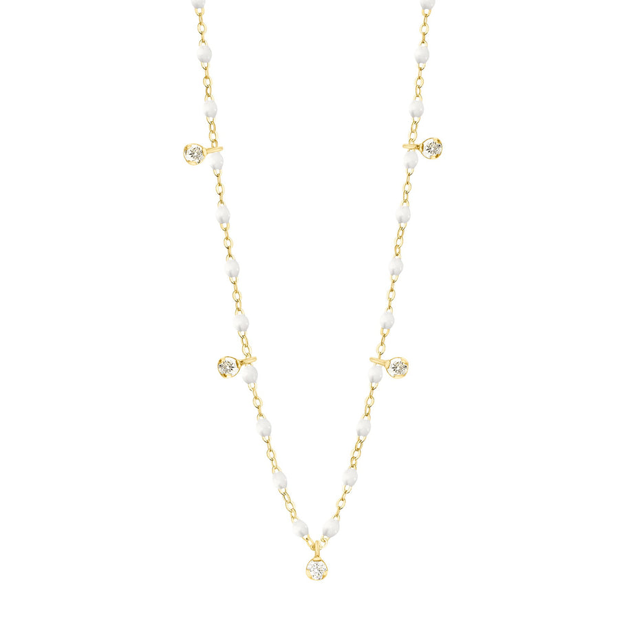 Gigi Clozeau - Gigi Supreme Classic 5 Diamond Necklace, White, Yellow Gold, 17.7