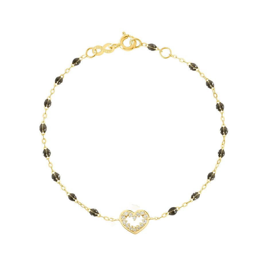 Gigi Clozeau - Heart Supreme Classic Gigi diamonds bracelet, Quartz, Yellow Gold, 6.7