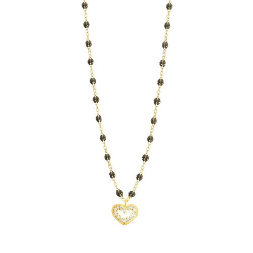 Gigi Clozeau - Heart Supreme Classic Gigi Quartz diamond necklace, Yellow Gold, 16.5