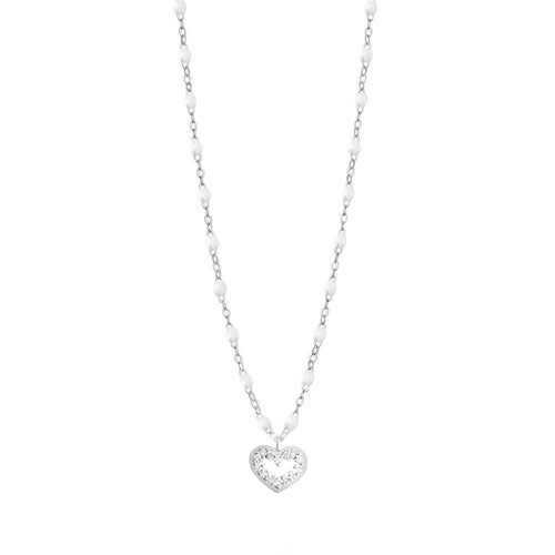 Gigi Clozeau - Heart Supreme Classic Gigi White diamond necklace, White Gold, 16.5