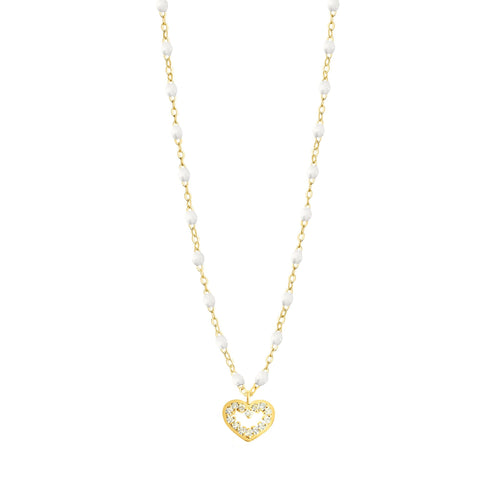 Gigi Clozeau - Heart Supreme Classic Gigi White diamond necklace, Yellow Gold, 16.5