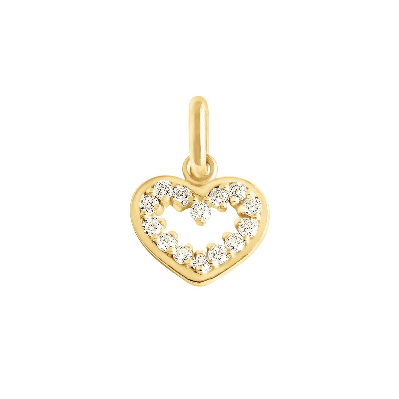 Gigi Clozeau - Heart Supreme diamond pendant, Yellow Gold