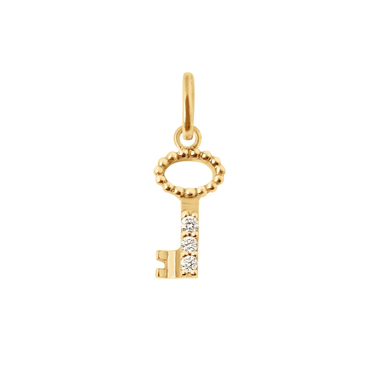Gigi Clozeau - Key diamond pendant, Yellow Gold