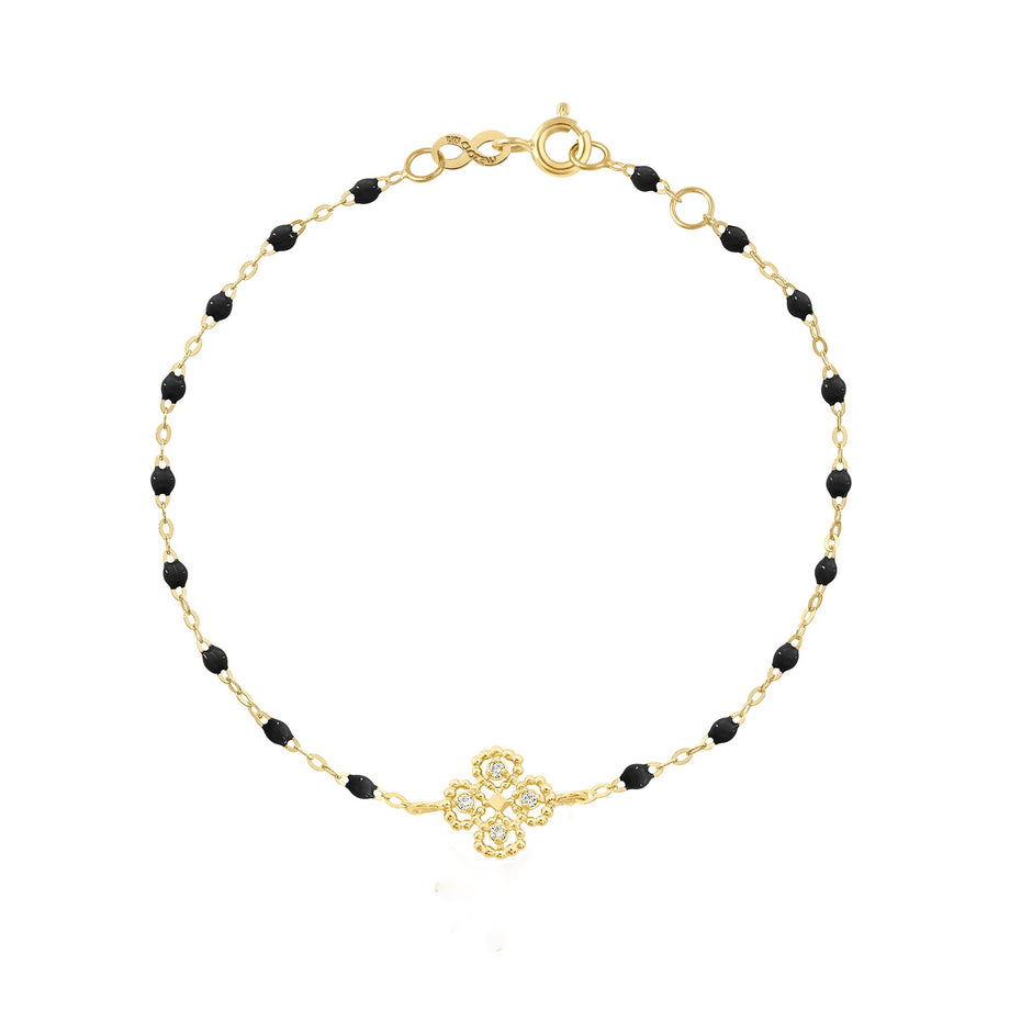Gigi Clozeau - Lucky Clover Classic Gigi Black Diamonds Bracelet, Yellow Gold, 6.7