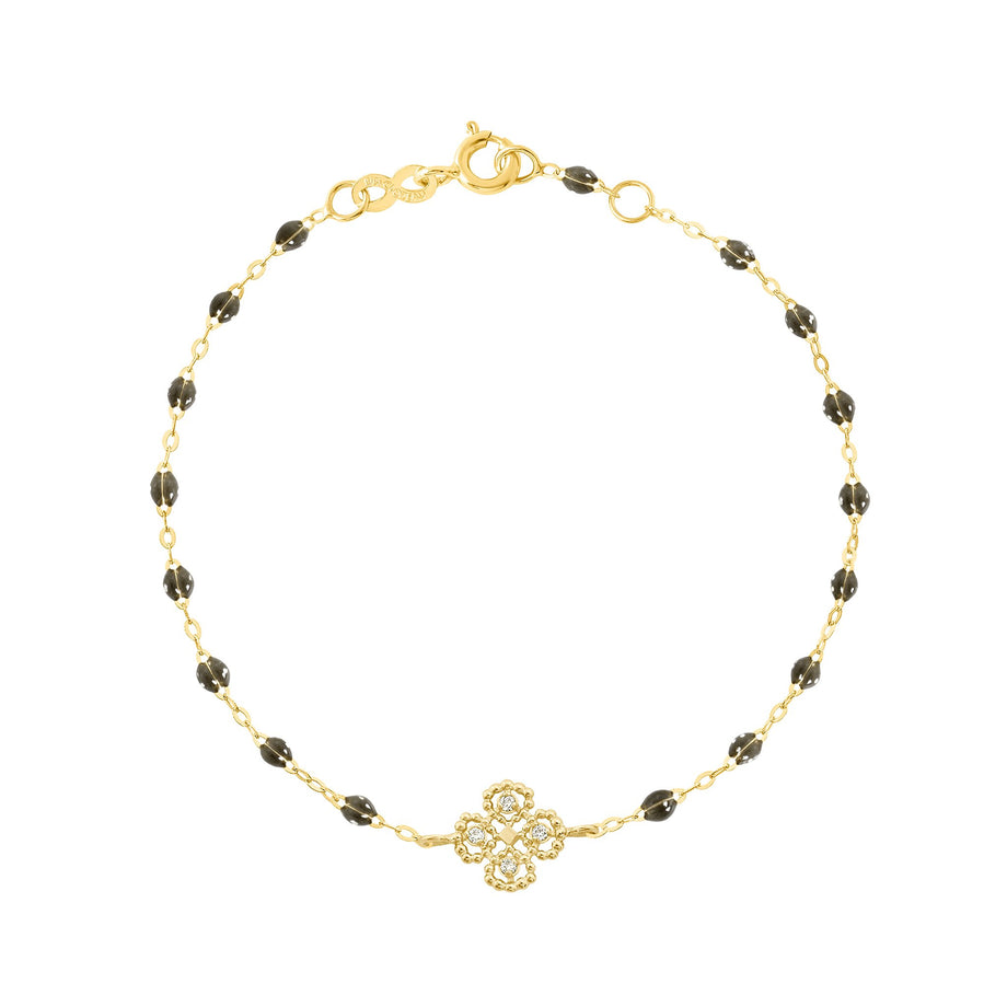 Gigi Clozeau - Lucky Clover Classic Gigi Quartz Diamonds Bracelet, Yellow Gold, 6.7