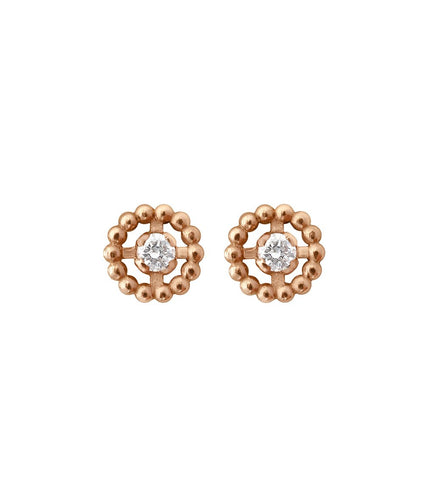 Gigi Clozeau - Lucky diamond hoops, Rose Gold
