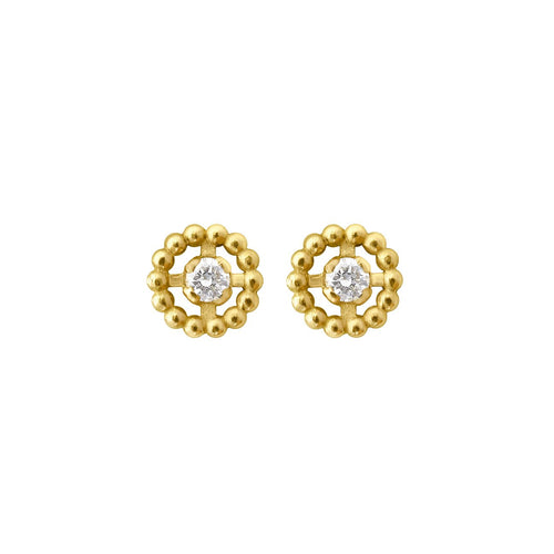 Gigi Clozeau - Lucky diamond hoops, Yellow Gold