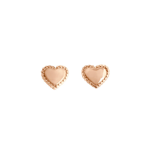 Gigi Clozeau - Lucky Heart earrings, Rose Gold