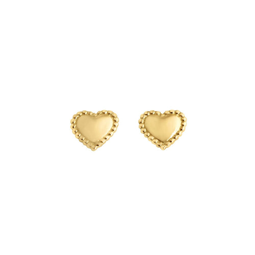 Gigi Clozeau - Lucky Heart earrings, Yellow Gold
