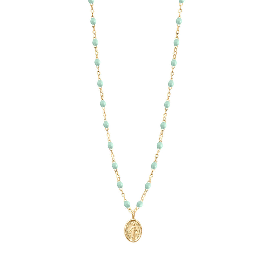 Gigi Clozeau - Madone Charm Classic Gigi Jade necklace, Yellow Gold, 16.5