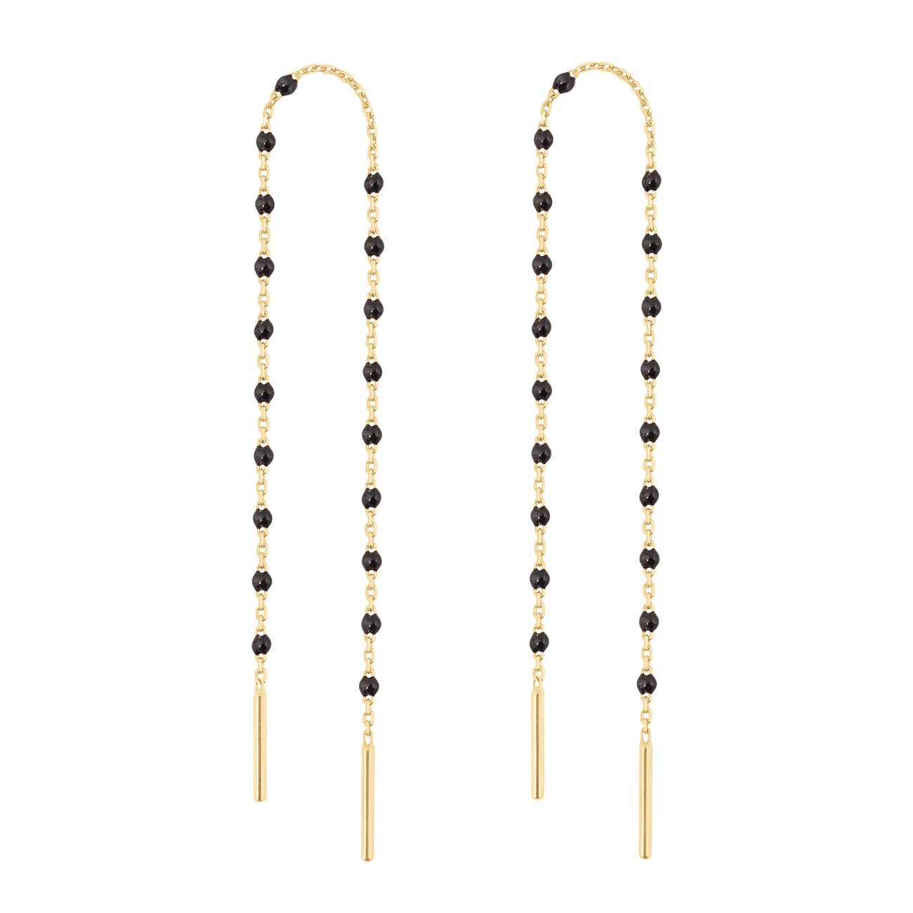 Gigi Clozeau - Mini Gigi Black earrings, Yellow Gold