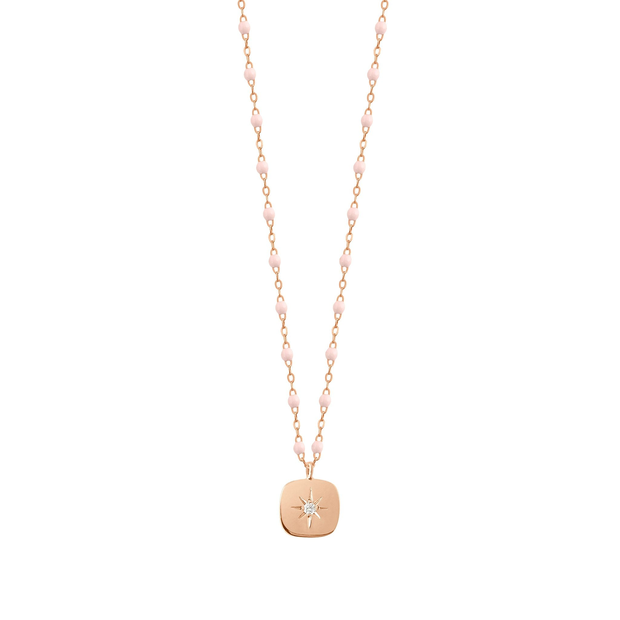 Gigi Clozeau - Miss Gigi Baby Pink diamond necklace, Rose Gold, 16.5""