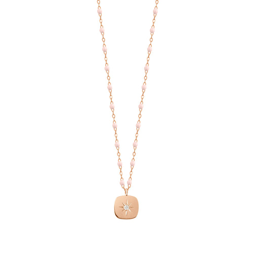 Gigi Clozeau - Miss Gigi Baby Pink diamond necklace, Rose Gold, 16.5