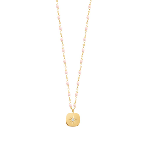 Gigi Clozeau - Miss Gigi Baby Pink diamond necklace, Yellow Gold, 16.5